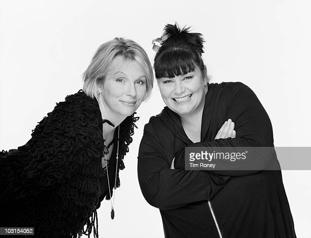 English comedy duo Jennifer Saunders and Dawn French circa 1990