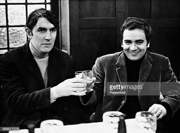 English comedy duo Peter Cook and Dudley Moore January 1966