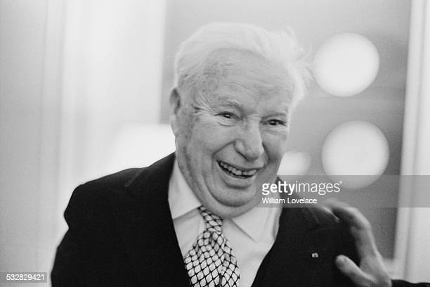 English comic actor and filmmaker Charlie Chaplin at the Savoy Hotel London 10th January 1972