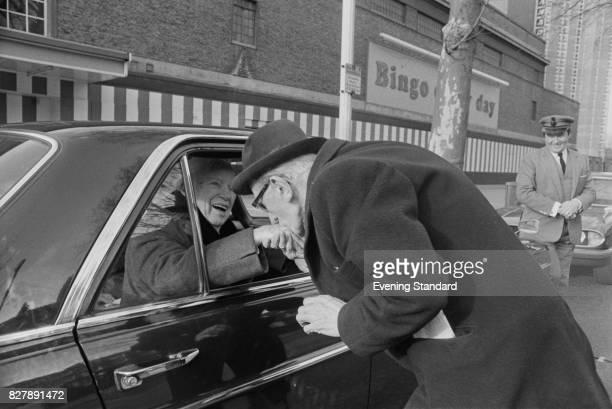 English comic actor and filmmaker Charlie Chaplin meets fans 13th January 1975 His car was parked near the 'Granada Bingo' on Kennington Road London