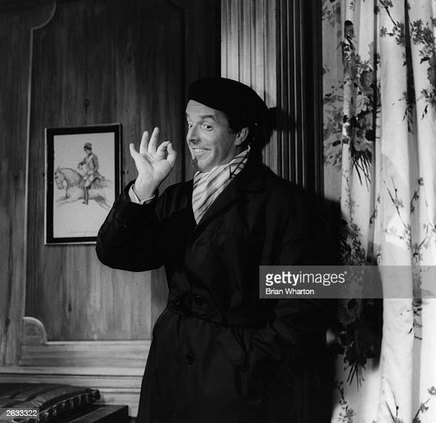 English comic actor and theatre manager Brian Rix during rehearsals for the Whitehall farce 'One For The Pot' Original Publication People Disc HK0111