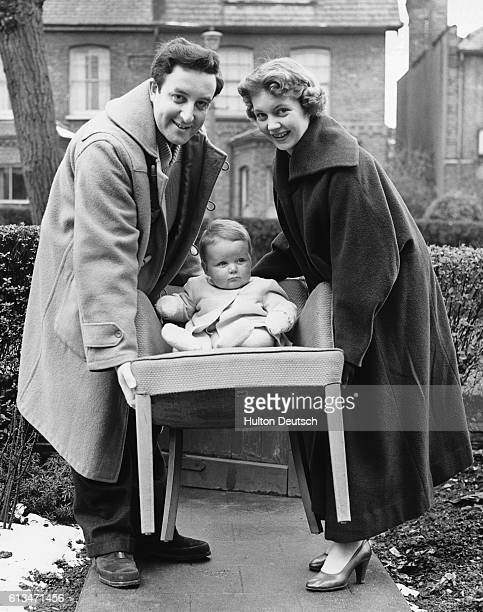 English comic actor Peter Sellers moving into his new home with his wife and son Muswell Hill London 1955