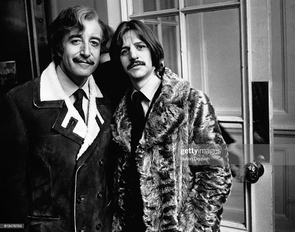 English Comic Actor Peter Sellers With Beatles Drummer Ringo Starr 1969