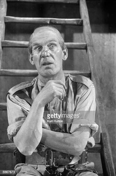 English comic actor Will Hay plays Professor Benjamin Tibbetts in the film 'Old Bones of the River' directed by Marcel Varnel and produced by...