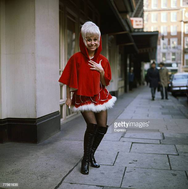 English comic actress Barbara Windsor in a festive pantomime outfit circa 1970