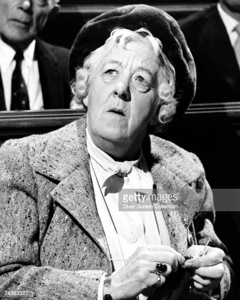 English comic actress Margaret Rutherford stars as Miss Marple in the film 'Murder Most Foul' 1964