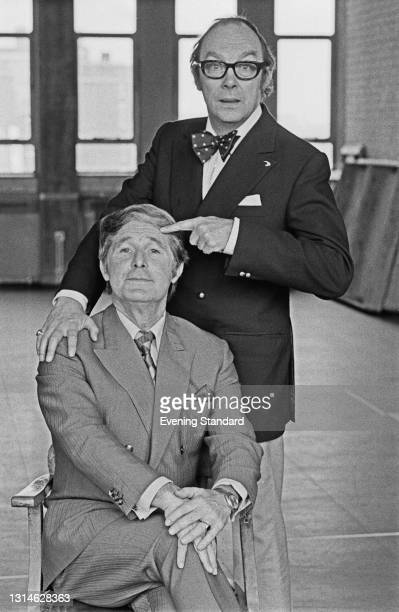 English comic double act Morecambe and Wise, individually Eric Morecambe and Ernie Wise , UK, 19th April 1974.