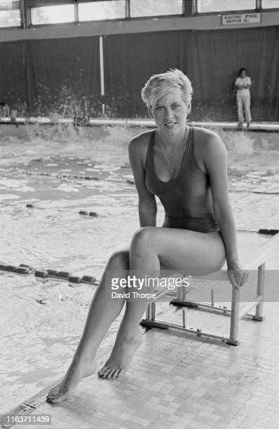 English competitive swimmer Sharron Davies UK 5th August 1984