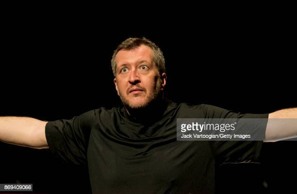 English composer and conductor Thomas Ades leads the final dress rehearsal prior to the United States premeiere of his opera 'The Exterminating...