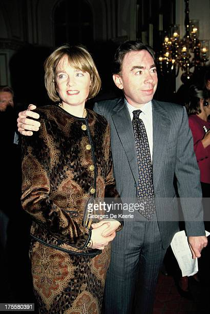 English composer Andrew Lloyd Webber and Madeleine Gurdon in 1991 ca in London England