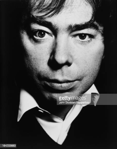 English composer Andrew Lloyd Webber posed in London in 1989