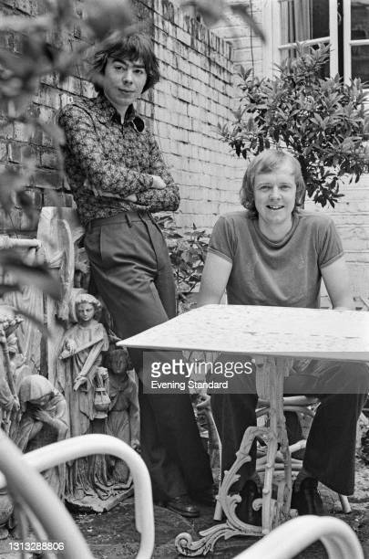 English composer Andrew Lloyd Webber with songwriter Tim Rice, UK, 8th August 1973. Their musical 'Joseph and the Amazing Technicolor Dreamcoat' is...
