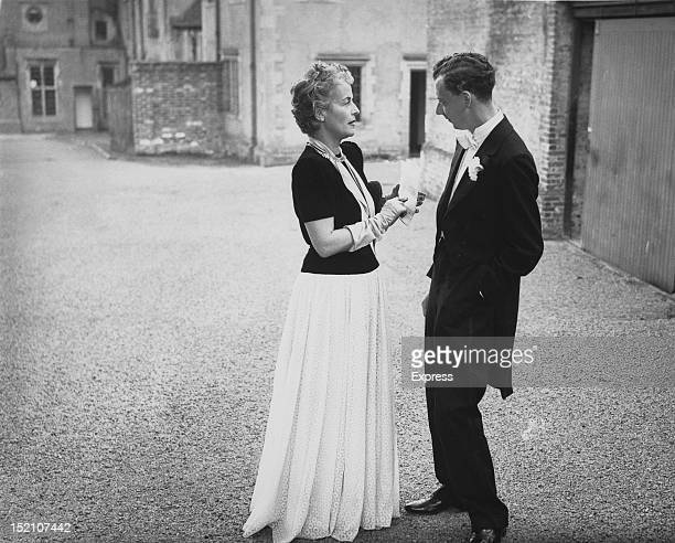 English composer Benjamin Britten at Glyndebourne Festival Opera 15th July 1946 Britten's opera 'The Rape of Lucretia' is being premiered at the...