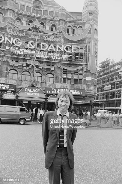 English composer impresario and new owner of the Palace Theatre Andrew Lloyd Webber pictured in front of his new purchase on Cambridge Circus in...