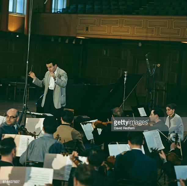 English conductor Sir Colin Davis at Walthamstow Town Hall in London circa 1970