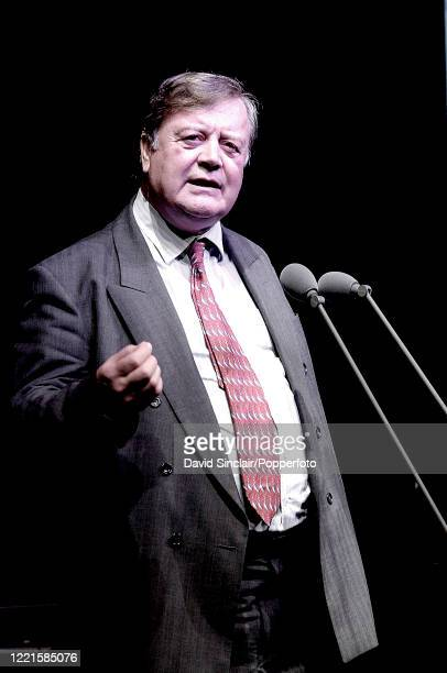 English Conservative Party politician Kenneth Clarke speaks at the BBC Jazz Awards in London on 13th July 2006.