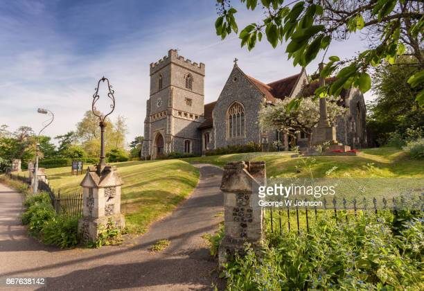 english country church in summer - church stock photos and pictures