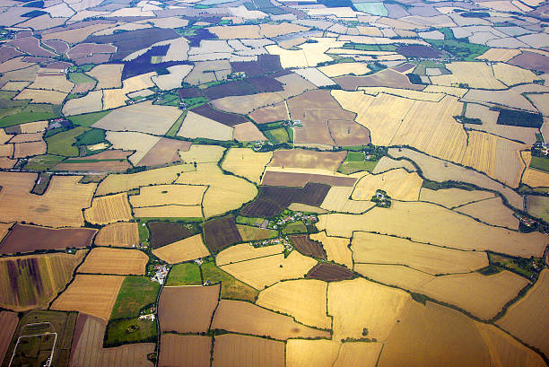 English Countryside Aerial View Wall Art