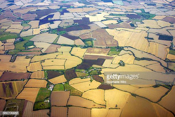 english countryside aerial view - essex england stock pictures, royalty-free photos & images