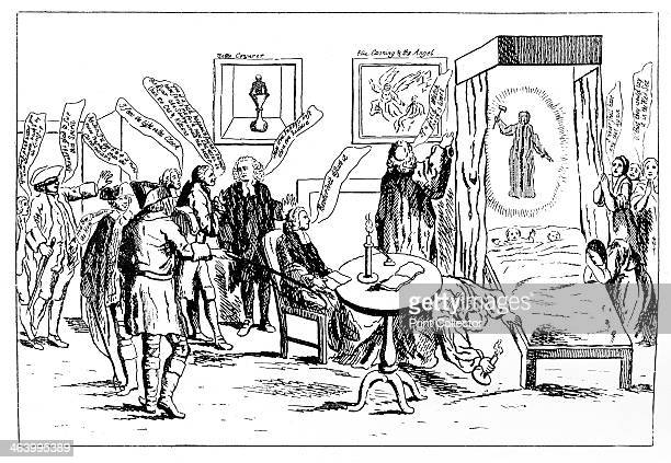 'English Credulity or The Invisible Ghost' 1762 Illustration from Social Caricature in the Eighteenth Century With over two hundred illustrations by...