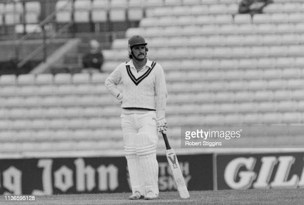 English cricketer Allan Lamb in action during a match UK 4th May 1984