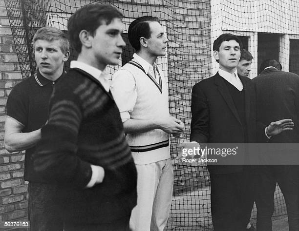English cricketer and Reverend David Sheppard takes some boys for net practice in the playground of the Mayflower Family Centre in Canning Town 8th...
