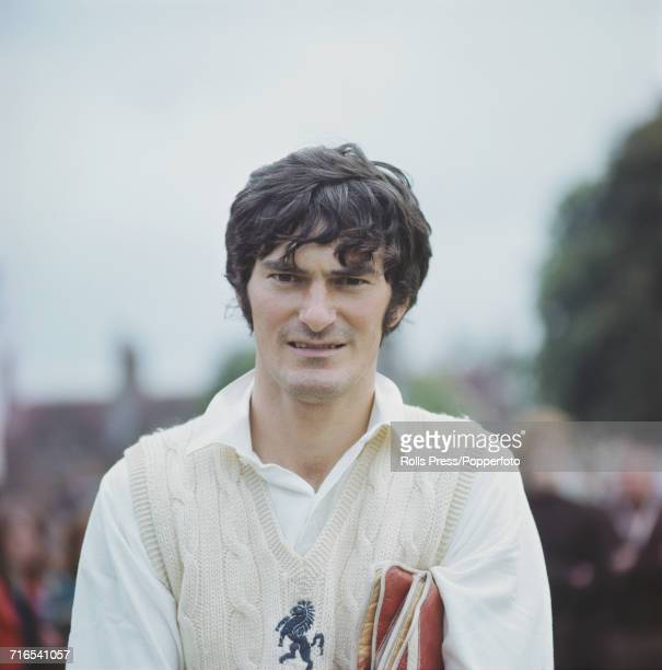English cricketer and wicket keeper for Kent Alan Knott posed prior to a cricket match in England in June 1971