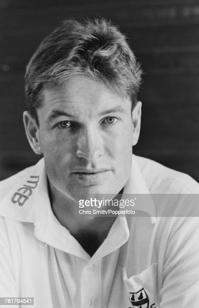 English cricketer Graeme Hick of England and Worcestershire posed circa 1990