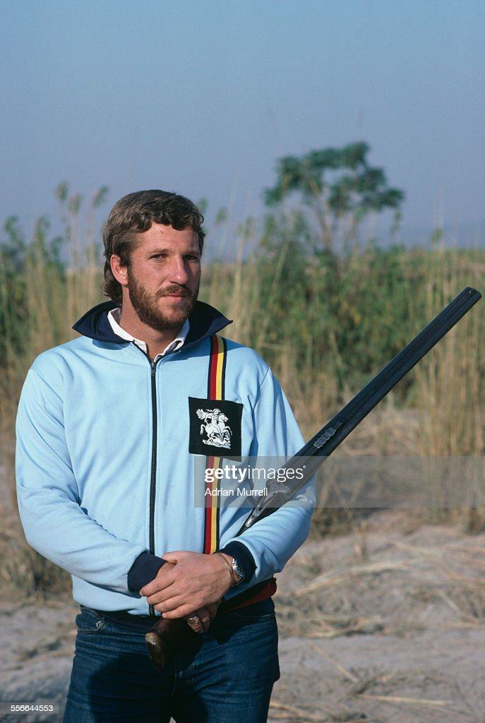 English cricketer Ian Botham during a partridge shooting trip on the Indo-Pakistani border during the England cricket team tour of India, January 1982.