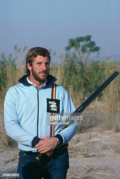 English cricketer Ian Botham during a partridge shooting trip on the IndoPakistani border during the England cricket team tour of India January 1982