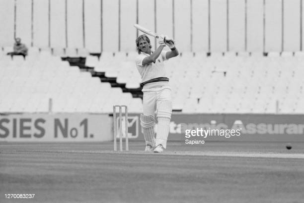 English cricketer Ian Botham of Somerset CCC during a match against Surrey UK 22nd June 1985