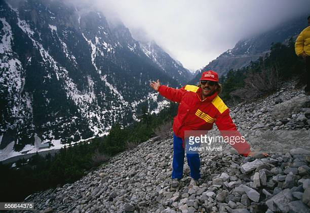 English cricketer Ian Botham recreates the trek of Hannibal across the Alps mountain range to raise funds for Leukaemia Research 1988