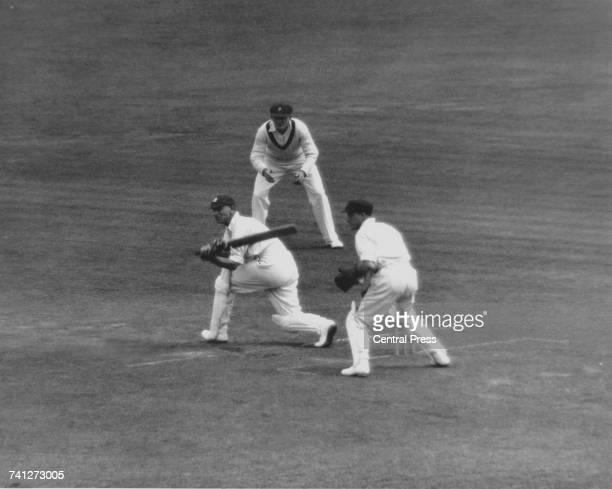 English cricketer Jack Hobbs batting for the MCC against Australia in the 1st Test at Trent Bridge Nottingham 13th17th June 1930