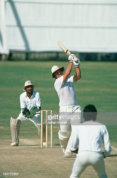 English cricketer Mike Gatting during his double century innings against India in the 4th Test at MA Chidambaram Stadium Chepauk Madras India 13th...