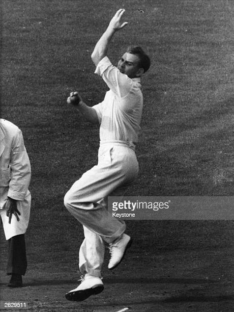 English cricketer Ray Illingworth in action Original Publication People Disc HF0629
