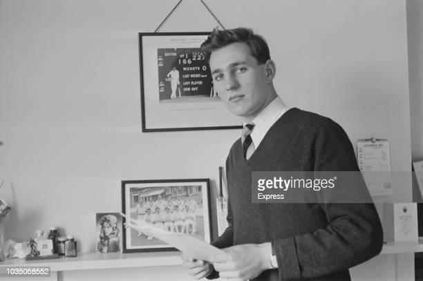 English cricketer Richard Hutton of Yorkshire County Cricket Club UK 16th November 1963