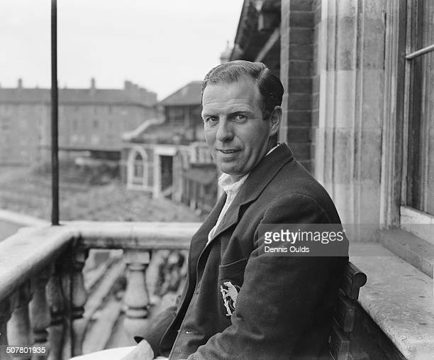 English cricketer Tom Dollery of Warwickshire and England July 1948