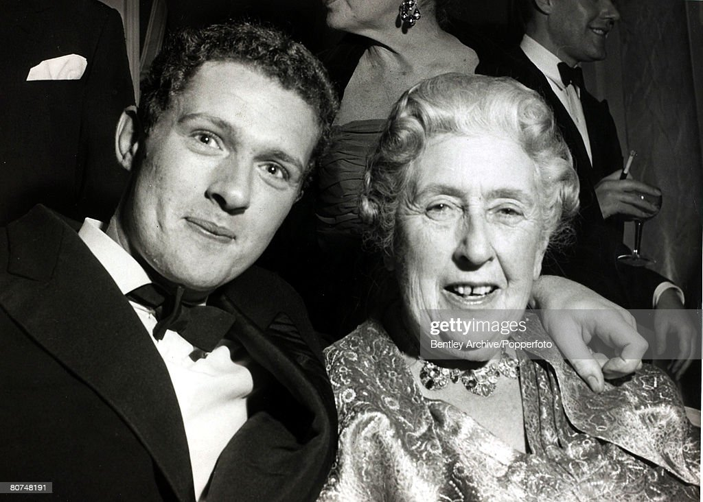 26th November 1962, English crime writer Agatha Christie with her grandson Matthew Pritchard, who she had bequethed the royalties of her play 'The Mousetrap' Agatha Christie,(1890-1976), the world's best known mystery writer, famous for her Hercule Poirot and Miss Marple stories, and for her plays including 'The Mousetrap'