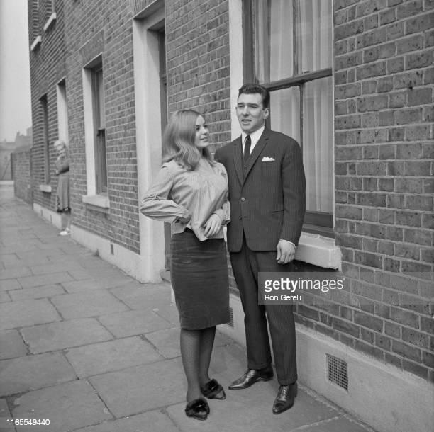 English criminal Reginald 'Reggie' Kray with his fiancee Frances Shea UK 5th April 1965
