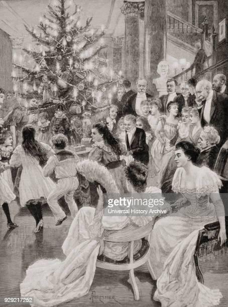 English customs in the 19th century The Christmas Tree From La Ilustracion Española y Americana published 1892