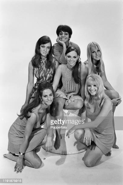 English dance troupe Pan's People posed together in England August 1967 The members are clockwise from bottom left Dee Dee Wilde Penny Fergusson Ruth...
