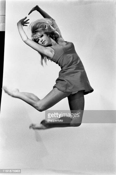 English dancer Babs Lord of dance troupe Pan's People, dances in a studio in August 1967.