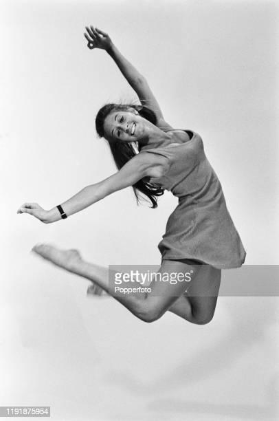 English dancer Dee Dee Wilde of dance troupe Pan's People dances in a studio in August 1967