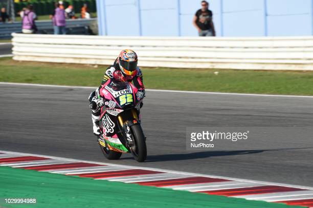 52 English Danny Kent of Team Speed Up Racing driving during warm up in Misano World Circuit Marco Simoncelli in Misano Adriatico for San Marino and...