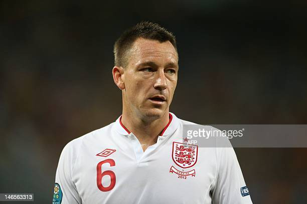 English defender John Terry is pictured during the Euro 2012 football championships match England vs Ukraine on June 19, 2012 at the Donbass Arena in...