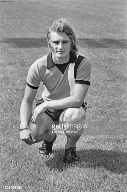 English defender Steve Litt of League Division 2 team Luton Town FC, at the start of the 1973-4 football season, UK, 6th August 1973.