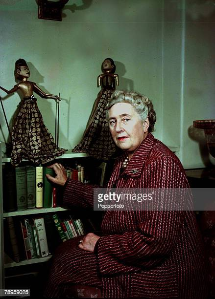 1949 English detective novelist Agatha Christie pictured at her home She created the characters Hercule Poirot and Miss Marple
