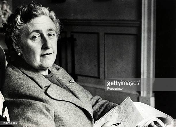 January 1946 English crime writer Agatha Christie at her home Greenway House Devon Agatha Christie the world's best known mystery writer famous for...