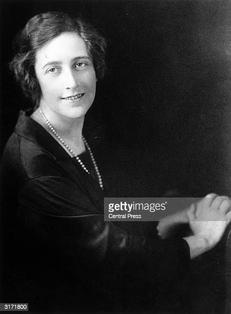 English novelist Agatha Christie