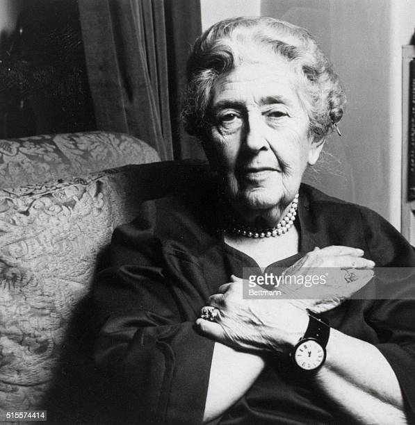 Seventynine year old mystery writer Agatha Christie
